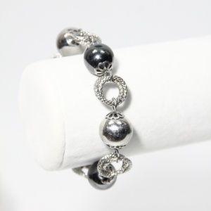 Simona Collini Stainless Steel Bracelet Hematite